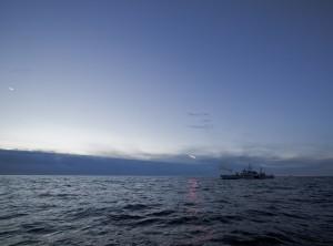 HMS Jägaren under provskjutningen. Foto: BAE