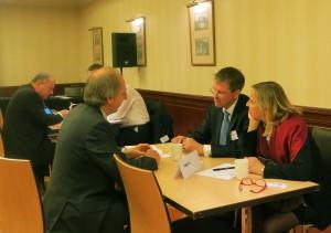 Möten mellan svenska och brittiska företag under industridagen. Foto: Soff
