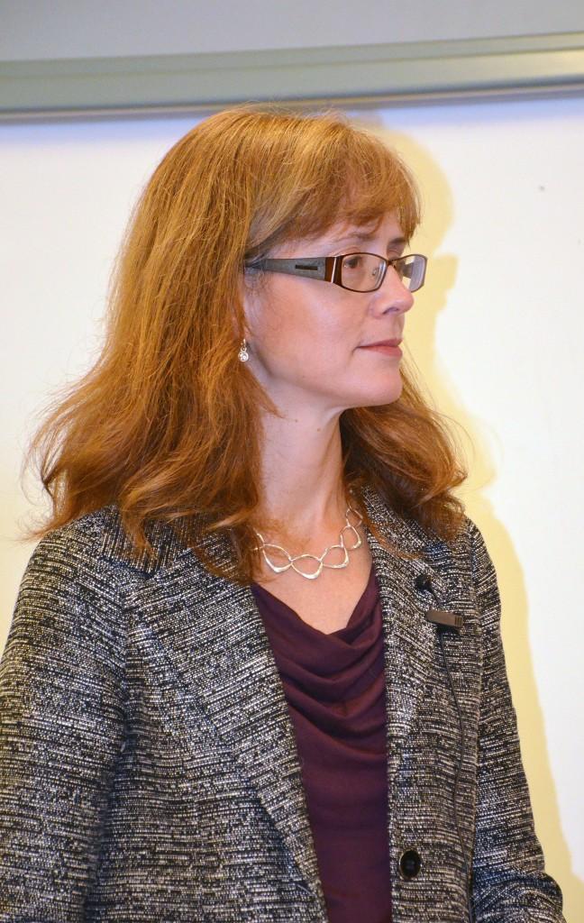 Lena Bartholdsson från Folk och Försvar var seminariets moderator. Bild: FXM