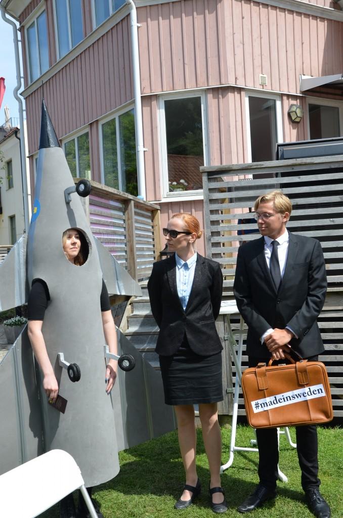 En deltagare kom utklädd till Gripenplan. Foto: FXM