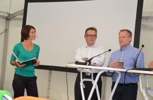 Moderator Annika Nordgren Christensen, Jan-Erik Lövgren från ISP och Ulf Hammarström, FXM. Foto: FXM