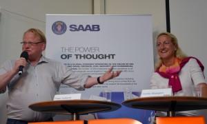 Peter Hultqvist och Cecilia Widengren under seminariet. Foto: FXM