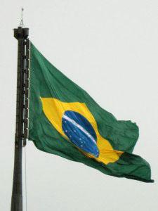 Brasiliens flagga. Foto: FXM